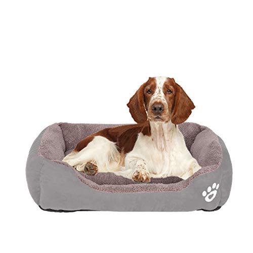 FRISTONE Waschbar Hundebett für kleine und große Hunde Hundekorb Weich XL Grau