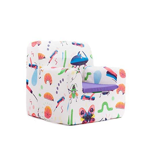 Sillon bebe sillita para recién nacidos desenfundable lavable resistente cómodo decoracion muebles niños Fabricado en España Varios Dibujos Estampados Tamaño único Edad 0 a 4 años (Bugs Party)