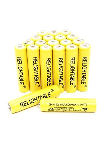 Solar Light AAA Ni-CD 600mAh Rechargable Batteries B (Pack of 20)