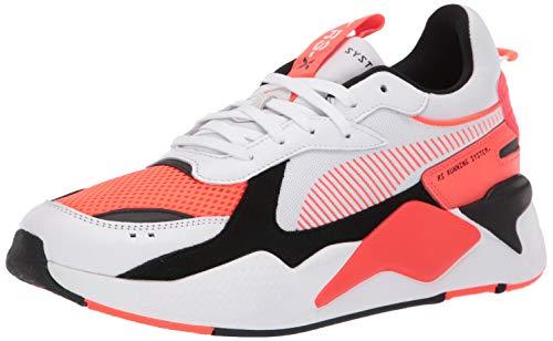 PUMA mens Rs-x Sneaker, Puma White-red Blast, 10.5 US