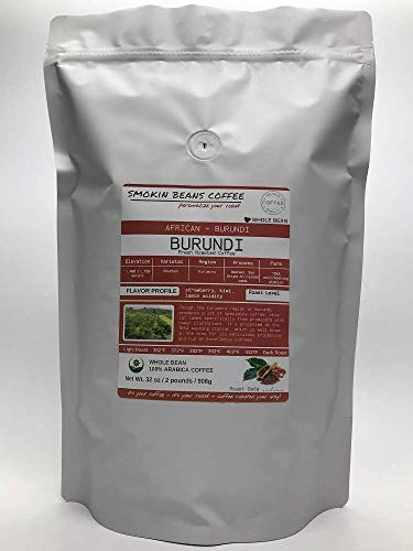 Northern Africa, Burundi (2-Pound Bag) Premium Arabica Coffee Freshly Custom Roasted Today (Medium Roast/Whole Bean) Customized Roast Or Grind Is Available By Messaging Us At Time Of Checkout