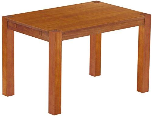 Brasilmöbel Esstisch Rio Kanto 120x80 cm Kirschbaum Pinie Massivholz Größe und Farbe wählbar Esszimmertisch Küchentisch Holztisch Echtholz vorgerichtet für Ansteckplatten Tisch ausziehbar