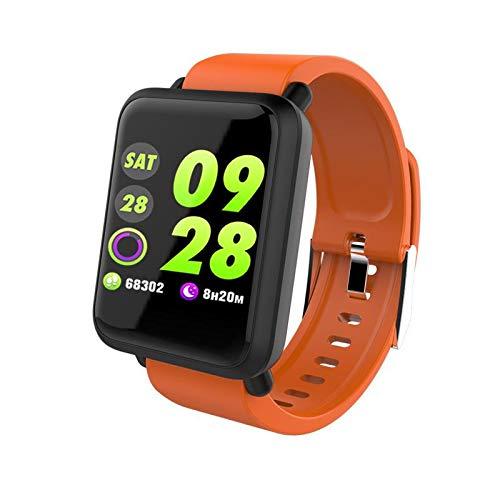 XANES M28 Waterproof Smart Bracelet Heart Rate Blood Pressure Monitor Smart Watch Orange