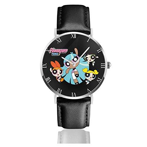 Relojes Anolog Negocio Cuarzo Cuero de PU Amable Relojes de Pulsera Wrist Watches Las Chicas Superpoderosas