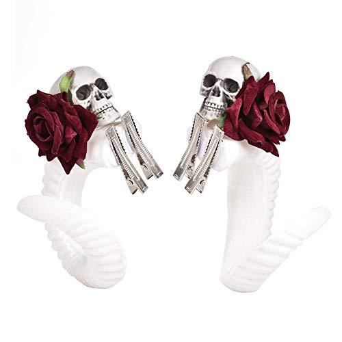 YakeHome Haarspange Rose Steampunk Devil Horns Traum Gotik RAM Straße Haarschmuck Lolita Kopfputz
