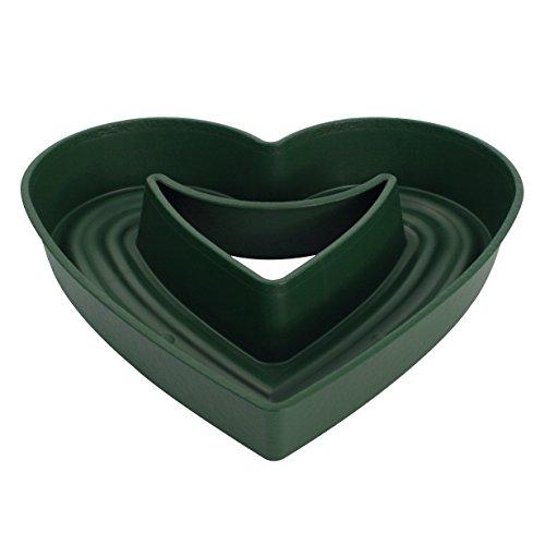 WIBO W615601041 Amora - Piatto (45 cm) di Design a Forma di Cuore, Verde