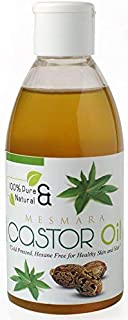 Mesmara Castor Oil 200 ml Cold Pressed for Faster Hair Growth | Skin Care | Hexane Free | Eyebrow growth | Eyelash growth | Massage