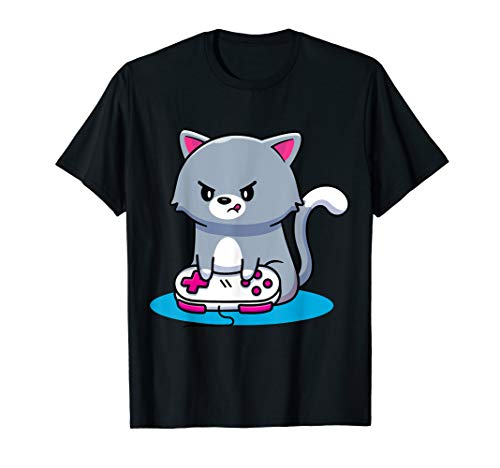 Niedliche Gaming Katze Video Game Computer Videogame PC T-Shirt