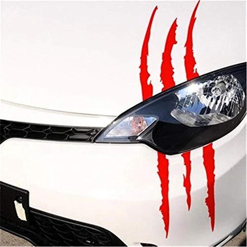 YiMall 6 PCS,29x17cm/11.42 x 6.69 '',Funny Car Sticker Reflective Monster Scratch Stripe Claw Marks Car Auto Headlight Decoration Vinyl Decal Car Stickers
