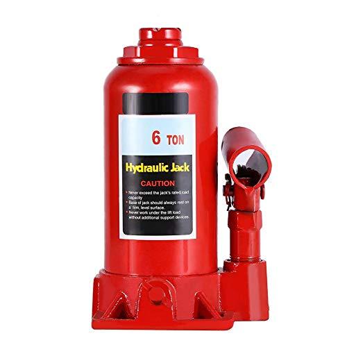 Dancal Cric hydraulique, élévateur de cric hydraulique 6T Cric-Bouteille hydraulique résistant de Levage