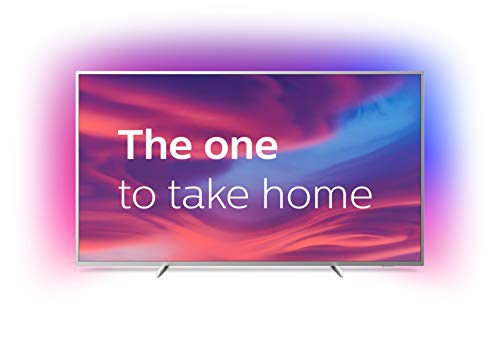 Philips 50PUS7304/12 50-Inch 4K UHD Android Smart TV with Ambilight and HDR 10+, Works With Alexa - Bright Silver (2019/2020 Model)
