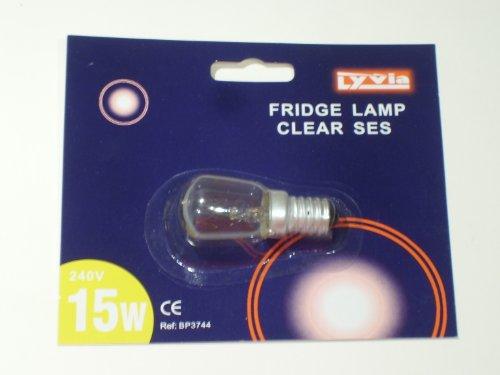 Bombilla de luz de refrigerador, 15 W, 240 V, transparente