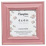 Hampton Frames Cornice portafoto, Legno, Rosa, 4x4 (10x10cm)