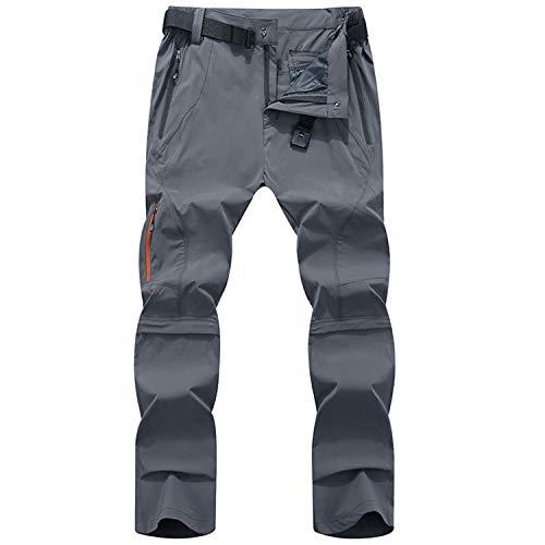 LY4U Hommes Zip Off Convertible Séchage Rapide Randonnée Pantalon Respirant Léger Résistant À l'eau en Plein Air Casual Escalade Marche Vélo Pantalon