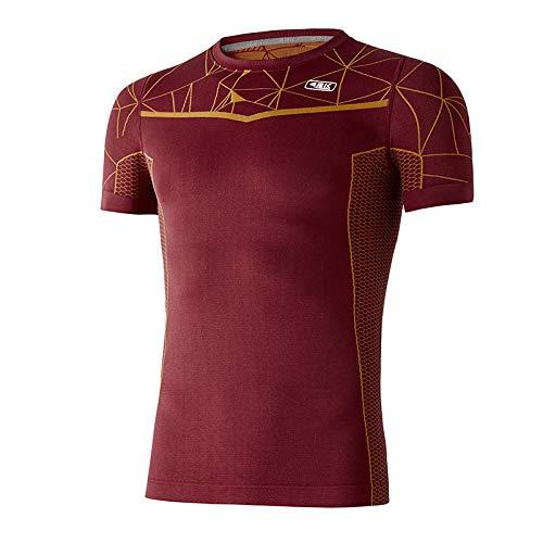 42K RUNNING - Camiseta Termocompresiva LHOTSE Maroon M - L