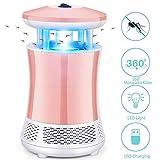 Bluesa Maamlly Lampara Mata Mosquitos Electrico, LED Mosquito Killer Lamp Insectos Trampa Lámparade Fotocatalizador Bug Zapper (Pink)
