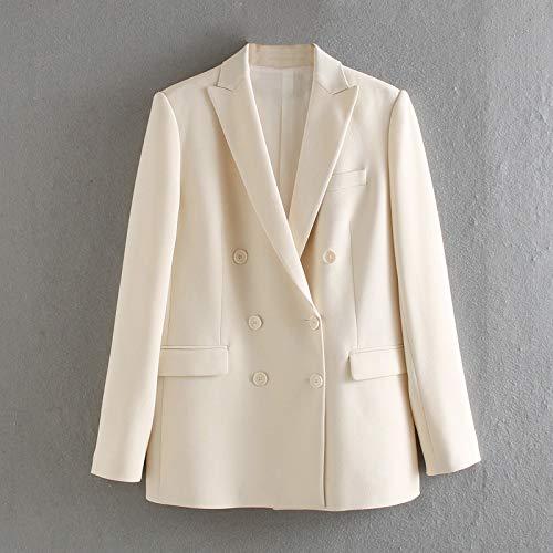 RVXZV SildFy weißer Blazer für Frauen Sommerblazer Zweireiherjacken Damen Abendanzug Jacken XS cremeweiß