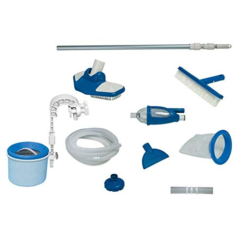 Intex Deluxe Pool Automatic Surface Skimmer and Maintenance Kit w/ Vacuum & Pole