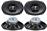 Alpine 6x9 Coaxial 3 Way 260W Wide Range Car Audio Speakers SPS-619 (2 Pairs)