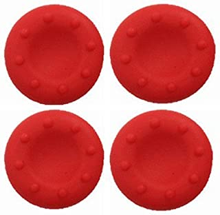 Analog Silicone Thumb Stick Grip Joystick Caps Cover for PS4 PS3 Xbox 360 Xbox One Game Controllers (4 x Red)