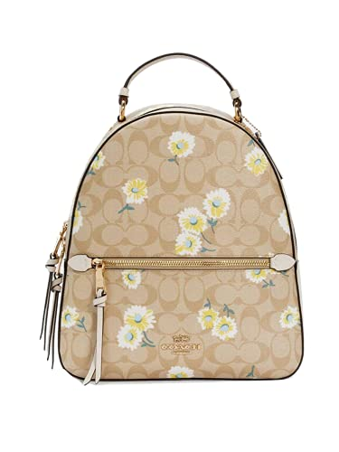 COACH C2856 JORDYN BACKPACK IN SIGNATURE CANVAS WITH DAISY PRINT