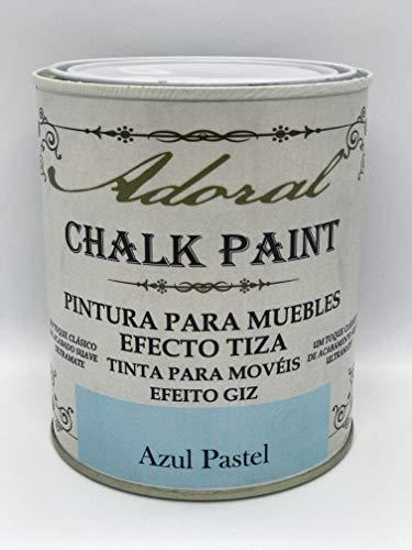 Adoral - Chalk Paint Pintura para muebles Efecto Tiza 750 ml (Azul Pastel)