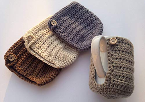 crochet coffee cup cozy - 2