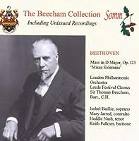 Missa Solemnis by LUDWIG VAN BEETHOVEN (2004-08-05)