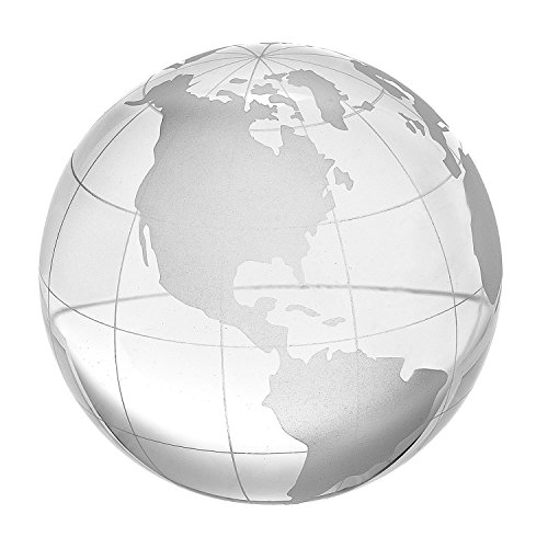 Amlong Crystal 2.3 inch Globe Paperweight with Gift Box