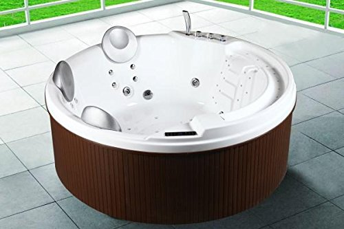 Mini Schwimmbecken Whirlpool 200x200x80 Für außen Maximaler 3/5Personen 29 Hydrojets Heizung Farbtherapie