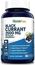 Black Currant Oil 2500 Mg 200 Veggie Capsules (Powder, Vegetarian, Non-GMO & Gluten Free) Pure - Hexane Free - Regulates Hormonal Balance