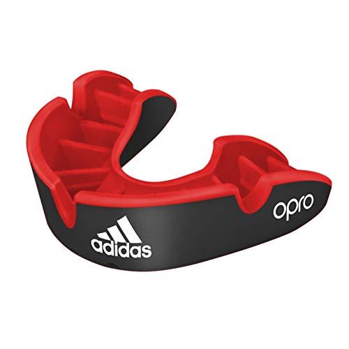 adidas Unisex– Erwachsene Opro Gen4 Silber Mundschutz, schwarz/rot, Senior