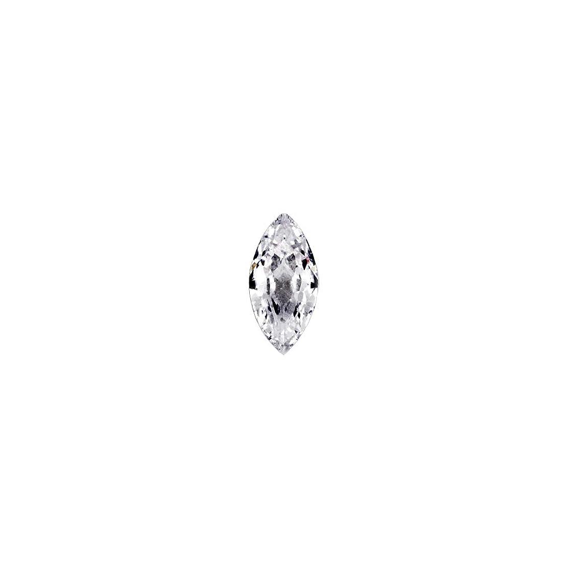 呼び起こす不規則性パラダイスラインストーン ジルコニア製 グロッシーストーン 【3mm×6mm】8個入りネイルパーツ ストーン クリスタル Vカット ジュエリー リーフ 模造ダイヤモンド