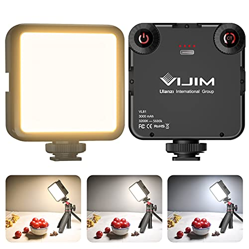 Video Light LED, VL81 Camera Light Rechargeable with 3000 mAh Battery,...