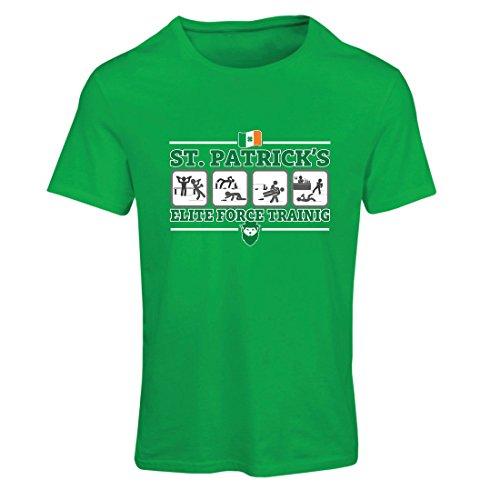 lepni.me Camiseta Mujer Fuerza de élite de San Patricio, trébol irlandés del día de St Patrick (XX-Large Verde Multicolor)