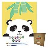 ColorOki Easy DIY Oil Painting, Paint by Number Kits for Kids, Beginners - 8'x8' (Panda)