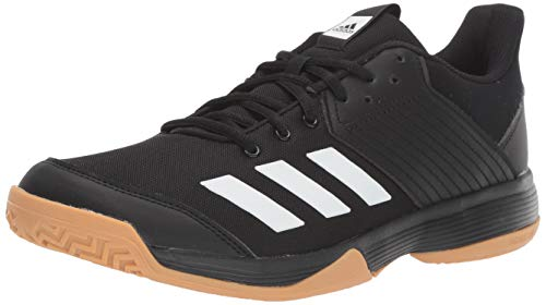 adidas womens Ligra 6 Volleyball Shoe, Black/White/Gum, 8.5 US