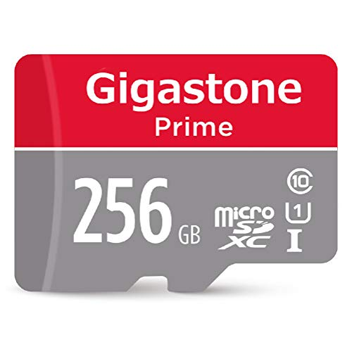 Gigastone 256GB Micro SD Card with Adapter, U1 C10 Class 10, Full HD available, Micro SDXC UHS-I Memory Card