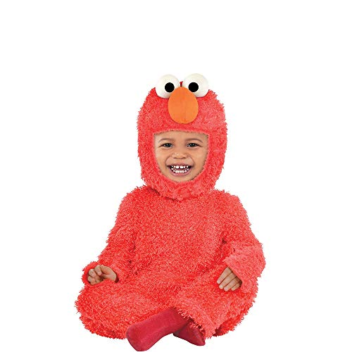 Suit Yourself Sesame Street Elmo Costume for Babies, Size 0-6 Months, Includes a Soft Jumpsuit, Hand Covers, and a Hood