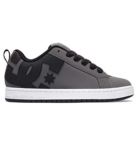 DC Men's Court Graffik XE Skate Shoe, Grey/Grey/Black, 6 D US