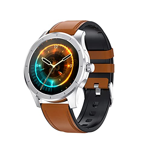 KKZ Hombres De 1.28 Pulgadas IPS 256M Almacenamiento Bluetooth Llamada IP68 Deportes Impermeables Smartwatch para Android iOS,F