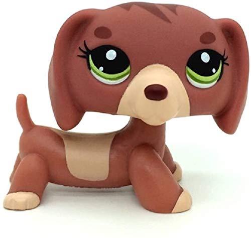 N/N Mini Littlest Pet Shop, LPS Toy Dachshund Dog Puppy Green Eyes Figures Toy Kid Gift