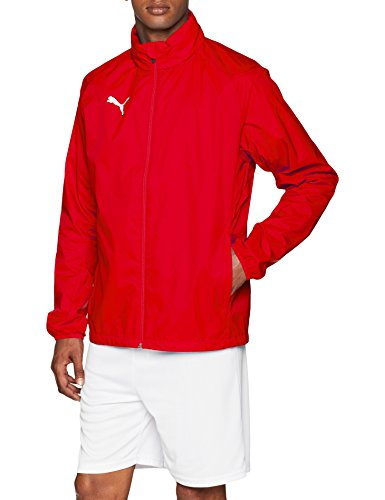 PUMA Herren Liga Core Training Rain Jacket, Red White, L