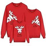 Sudadera Navidad Familia Jersey Navideño Niño Niña Sueter Hombre Mujer Reno Estampadas Pullover Cuello Redondo Invierno Sudaderas Navideñas Familiares/L
