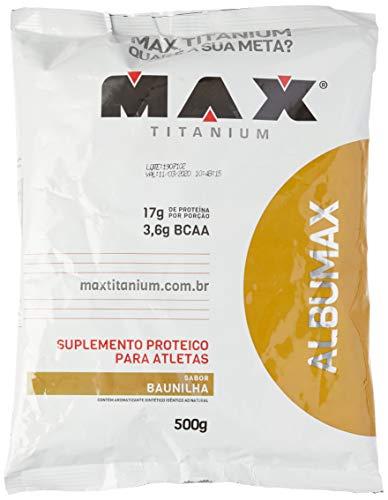 Albumax 100% Baunilha, Max Titanium, 500g