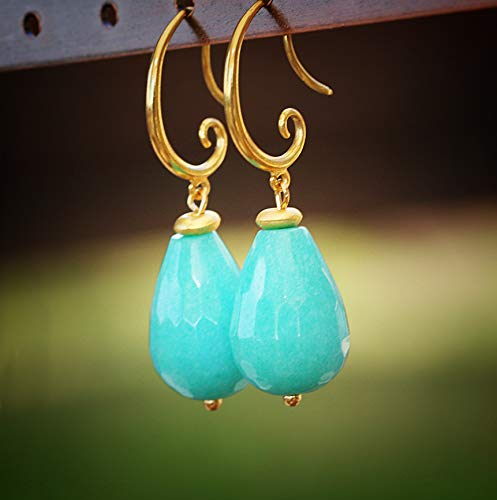 Chic Gemstone Clearance SALE Limited time Earrings - Turquoise Jewelry Online limited product Fashion C for Women