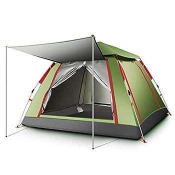 Camping Tente 3-4 Personnes Tunnel Voyage Tente Tente Automatique de la Cabine Instant Thicken antipluie Camping Tente Camping Fournitures de Terrain (Color : Army Green)
