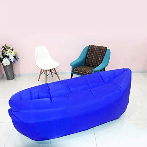 LIYONG Chaise Longue de Camping de chaises gonflables, Sac de Sofa portatif extérieur d'air, lit Se Pliant d'air Libre de Plage (Color : Blue)