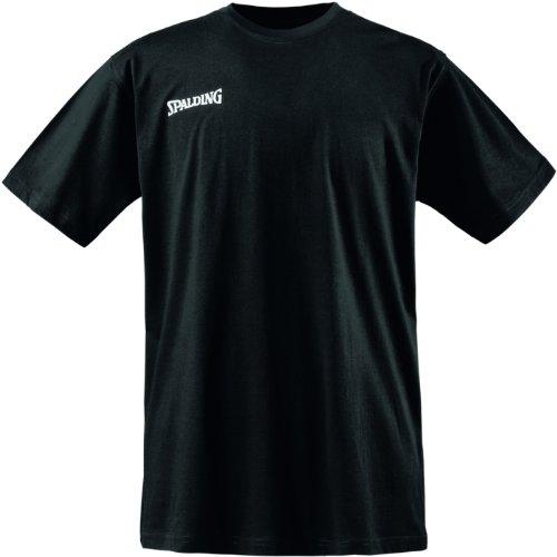 Spalding Promo tee Camiseta Baloncesto, Hombre, Negro, XXS
