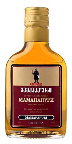 Georgischer Weinbrand MAMAPAPURI, 23 Jahre Alt, 40%, 0,2Liter, aus autochthone georgische Rebsorte...